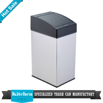 Sensor Mini Table Top Trash Can With Plastic Lid