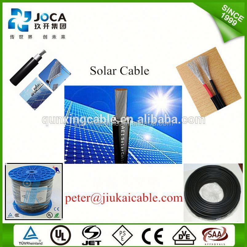 China manufacture 6mm solar pv power xlpe energy cable