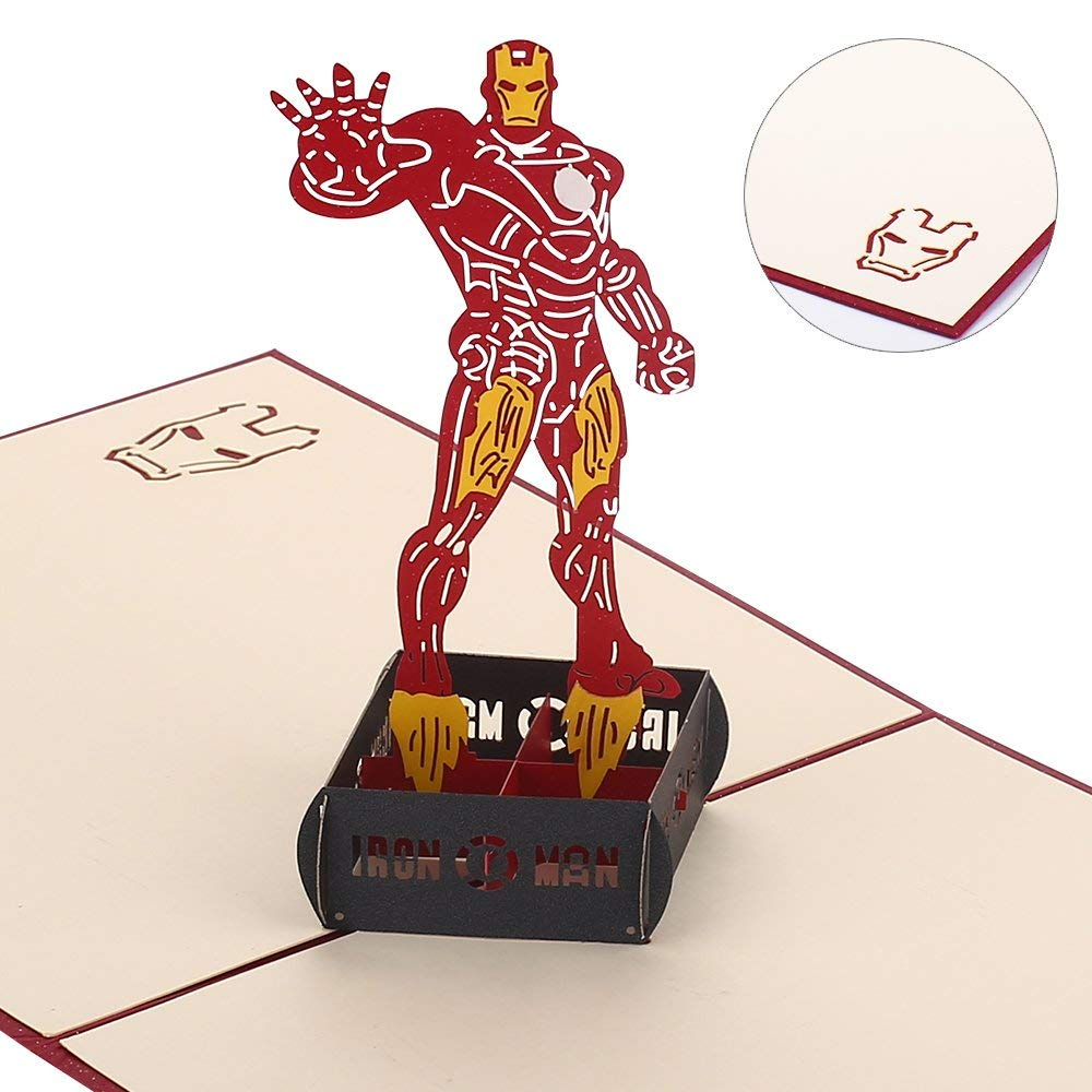 Iron Man Birthday Card Template | www.topsimages.com