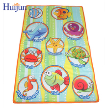 Non-toxic folding baby mat with printing rectangle