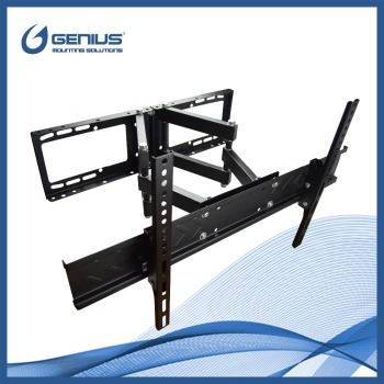 Articulating dual arms motorized corner tv wall mount for Motorized full motion tv wall mount