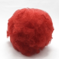 1.5D * 38mm colored polyester fiber factory for spinning