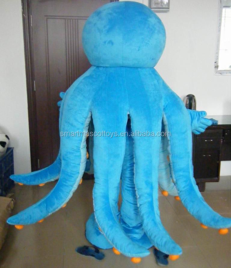Gute Visuelle Blaue Krake Oktopus Maskottchen Maskottchen