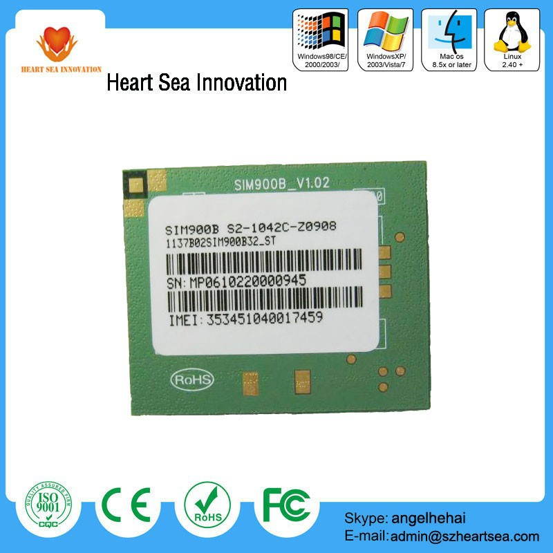 hot new products for 2015 new and original cheap price simcom gsm gprs module sim900B with connector for sales in stock