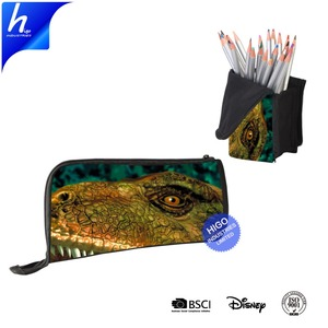3D Print Dinosaur Patterns on Pencil Bag for Student and Office Foldable Stationery Boys Gift