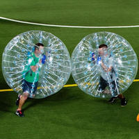 Amazing 1.2/1.5m top quality PVC inflatable glass bubble soccer body zorb ball