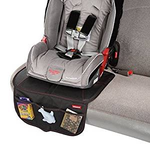 Diono Super Mat Seat Protector with Organizer, Black by Diono