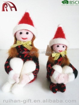 100 handmade pure wool felt christmas home decor angel - Handmade Felt Christmas Decorations
