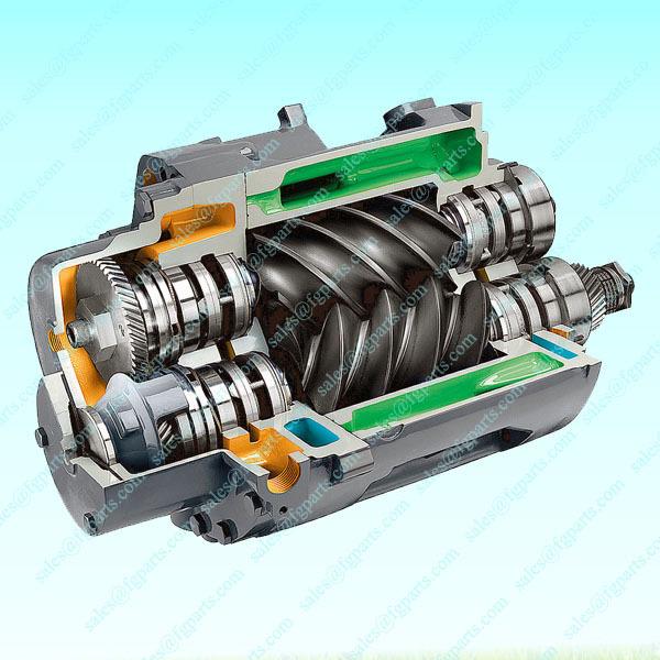 Screw Air Compressor Airend Rebuilding Mj185 Mj200 Mj250 Air ...
