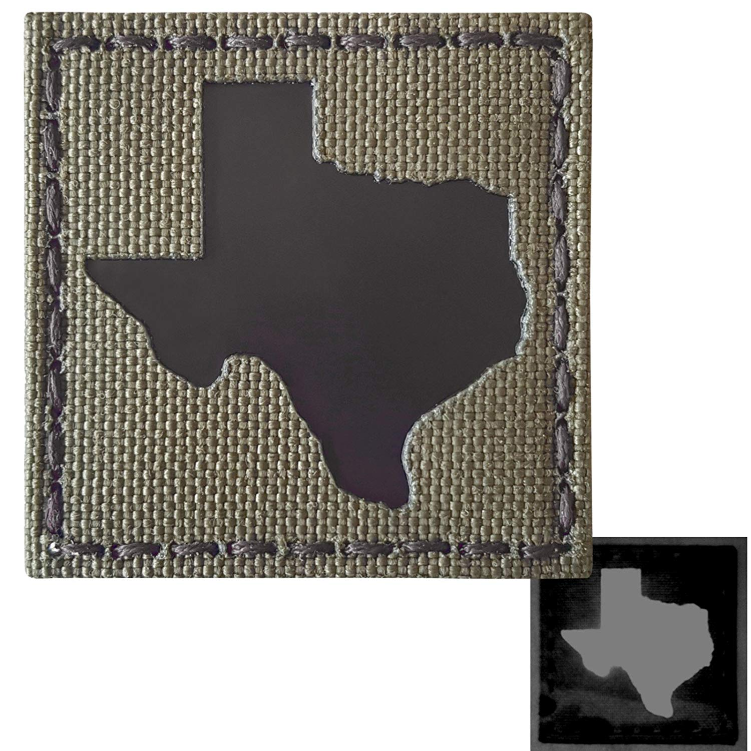 Ranger Green Texas Infrared IR 2x2 Laser Reflective Tactical Morale Fastener Patch