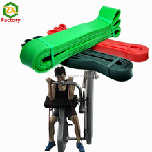 Gym Pilates rubber exercise stertch bands sports fitness equipment china