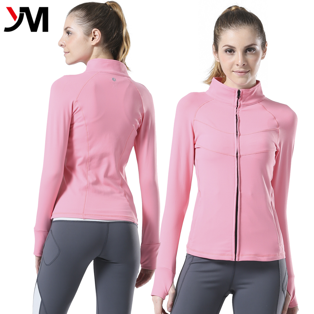 Women Sports Private Label Athletic Apparel Wicking Running Jacket