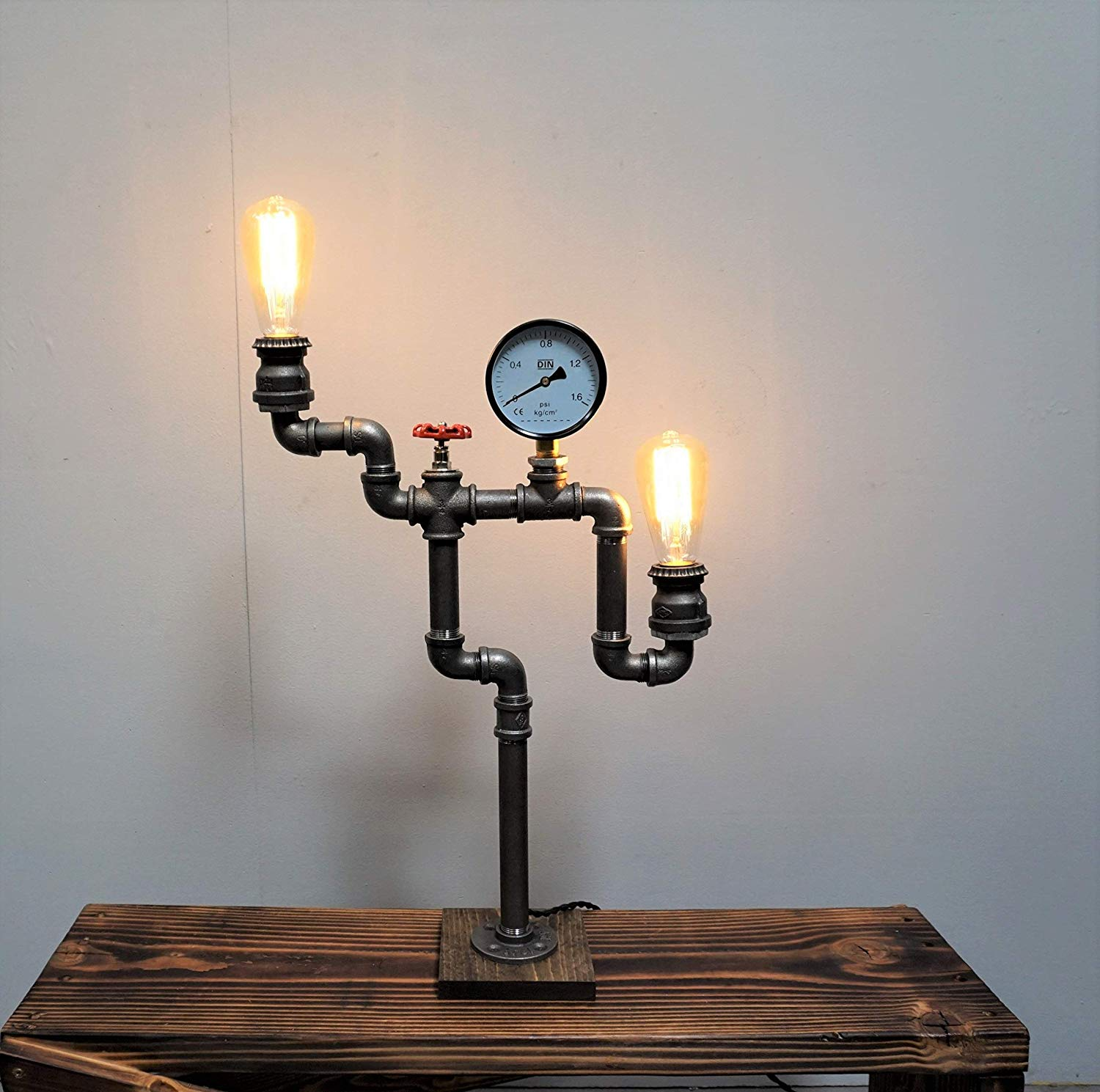 Industrial table lamp, industrial desk lamp, table lamp, desk lamp, edison table lamp, edison bulb table lamp, steampunk table lamp