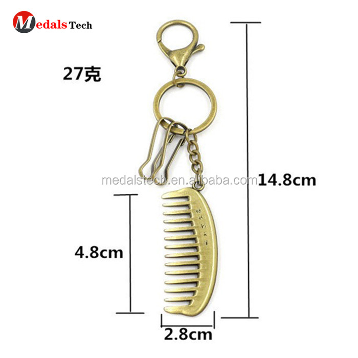 Personalized Custom Stainless Steel Metal Beard Shape Comb For Women