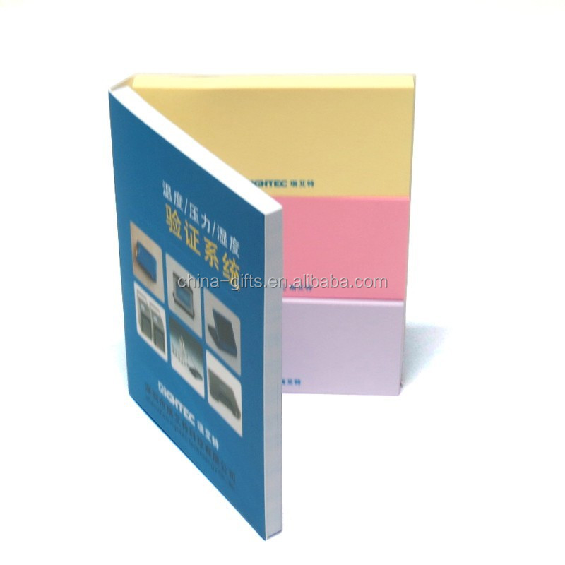 soft cover sticky note pad
