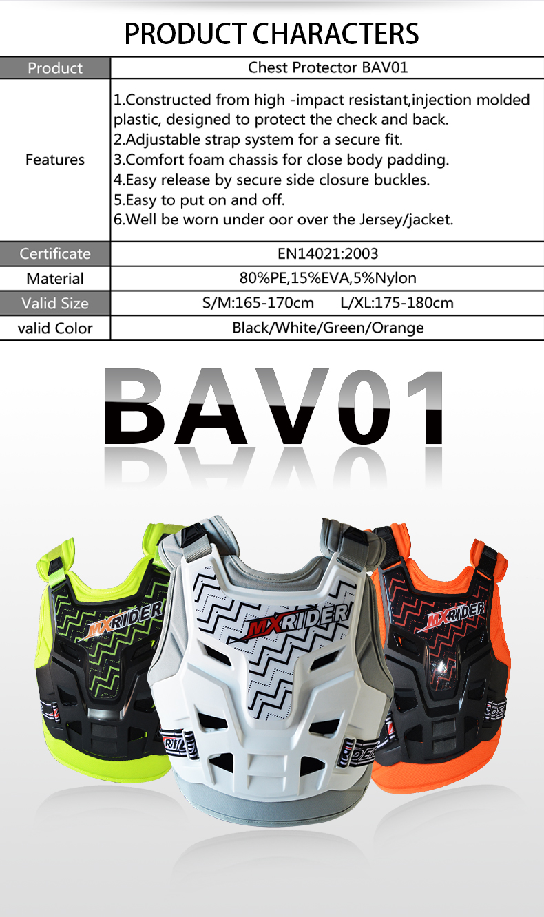 CE Motorcyclel Body Protector Armor from YF Motobike safety jeacket