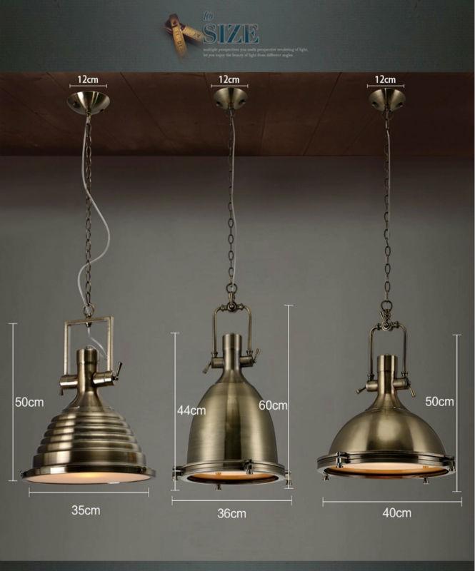 Modern Decorative Vintage Loft Copper Metal Hanging Lamp Chrome Br Pendant Light Droplight