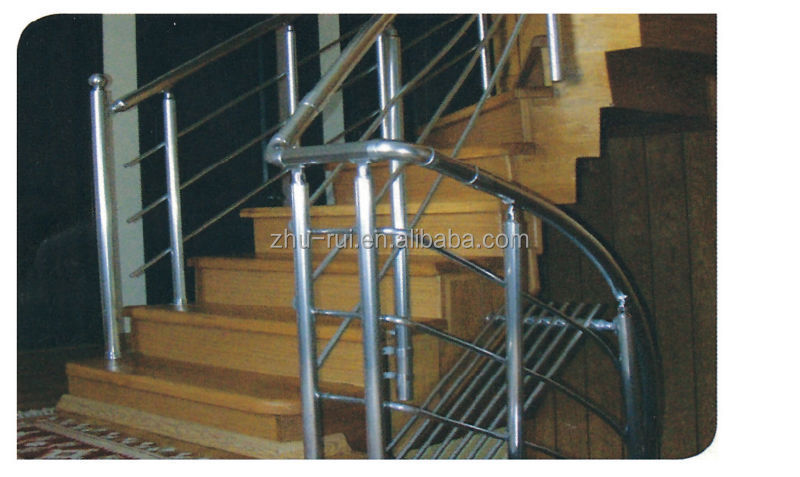 High Quality Indoor Aluminum Anodized Silver Stair Railing Parts/balcony Baluster/ Handrail Accessories