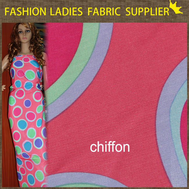 clipping and carving chiffon fabric top-one animal printed polyester chiffon fabric fabric ladies smart chiffon casual dress