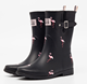 Hot sell model fashion rainboots women rubber shoes top rain gum boots