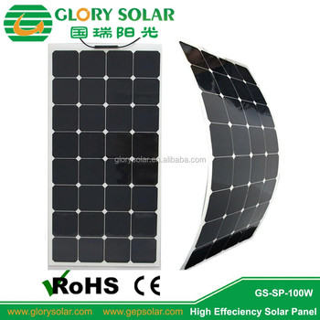 100w 120w 200w Flexible Solar Panel Price Per Watt
