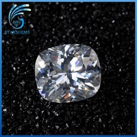 10x10mm big size approximately 4 carat cushion cut moissanite loose diamond for jewelry