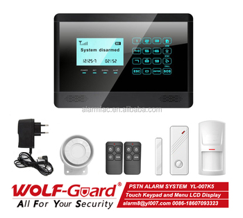 pstn wired home security alarm system for auto dial yl 007k5 buy