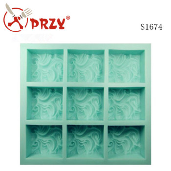 S1674 Sky Clouds 9 Hole Customized Silicone Soap Mold Buy Handmade