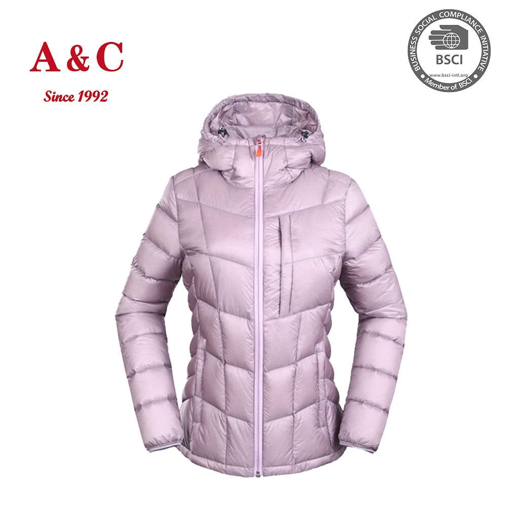 Wholesale Winter Women Ultra Light Down Feather Jacket With Hood