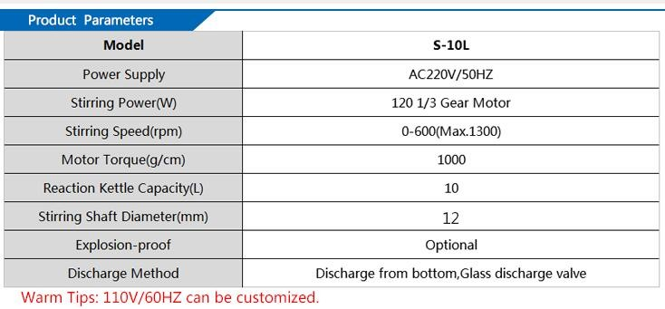 S-10L Chemical Jacket Glass Lined Reactor