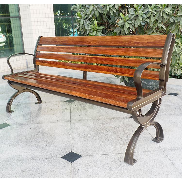 Backyard Corner Outdoor Sturdy Wooden Garden Bench For Patio