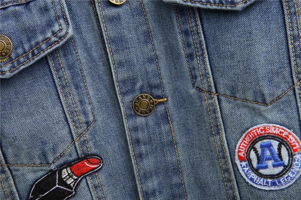 304711f72d Compre Atacado Primavera Outono Moda Feminina Do Vintage Emblema ...