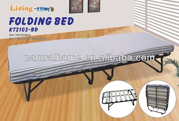 For Home Use Guestroom Bedroom Foldable Beds Foam Mattress Wheels