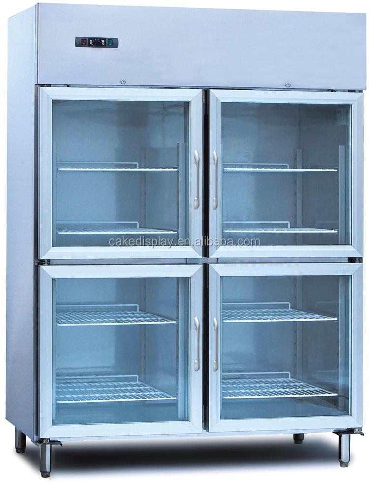 Snowland 4 Glass Door Commercial Used Fridge Freezers