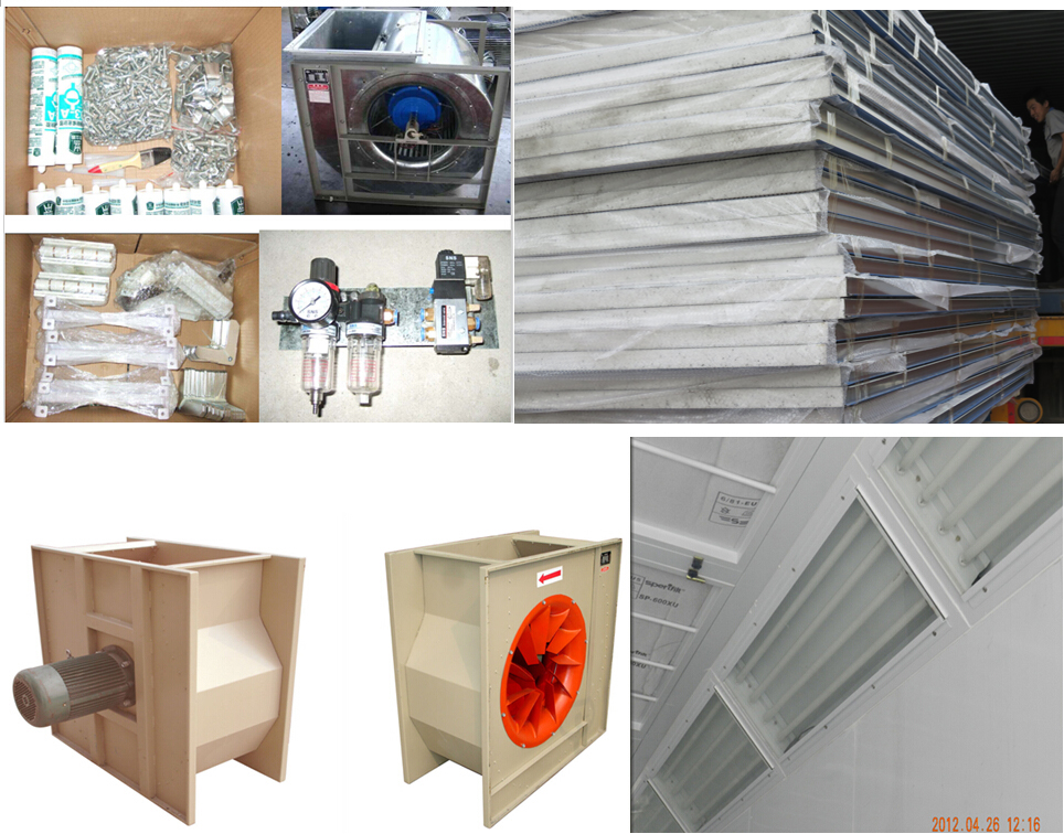 Tg-70c Europe Design Spray Room Paint Booth Exhaust Fan ...