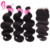 Brazillian Body Wave Hair With Closure, Natural Human Hair Weave Bundles Products For Black Women