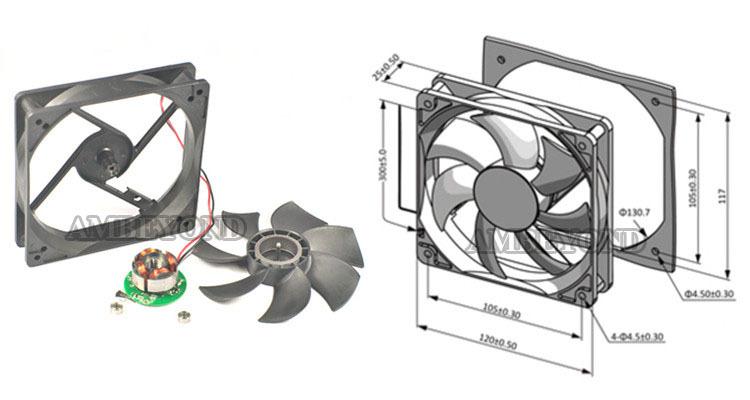 120mm Dc 12025 12v Led Computer 120 Mm Cooling Fan