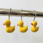 Factory Direct Infauna Resin Shower Curtain Hook,Decorative Home Bathroom duck Shower Curtain Hooks