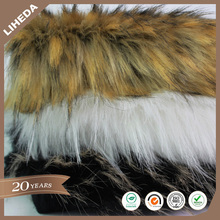 High Qulity Tip Dyed Imitation Faux Fox Fur Fabric For Winter Coat