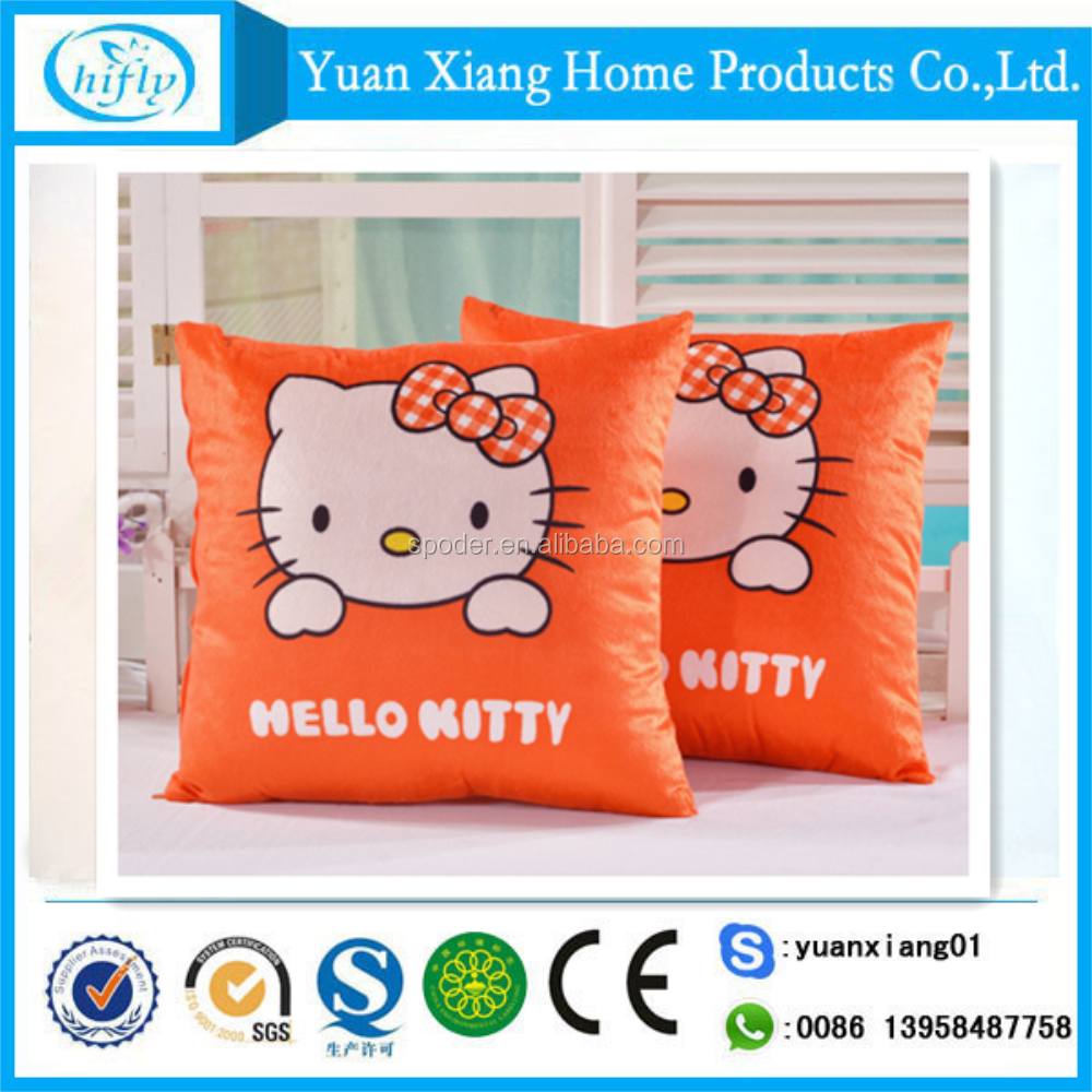 Hello Kitty printed lovely soft fleece cushion for home textile