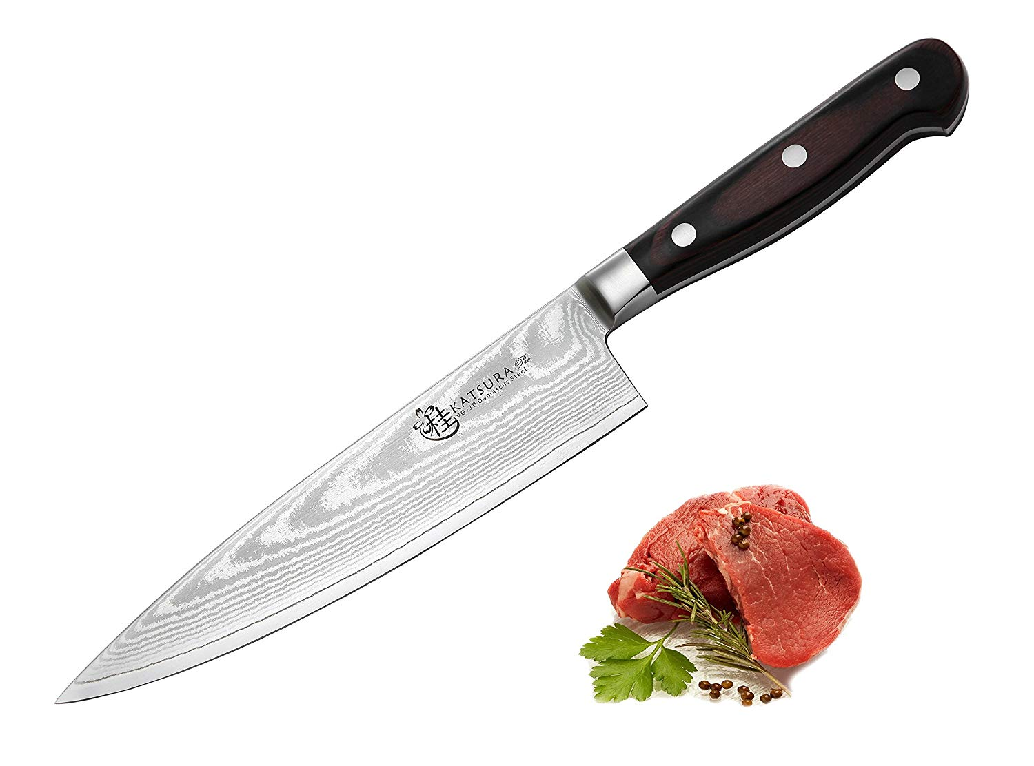 KATSURA Japanese VG-10 67 Layers Damascus steel Knife - 8-inch Chef Knife - Nice Gift Box