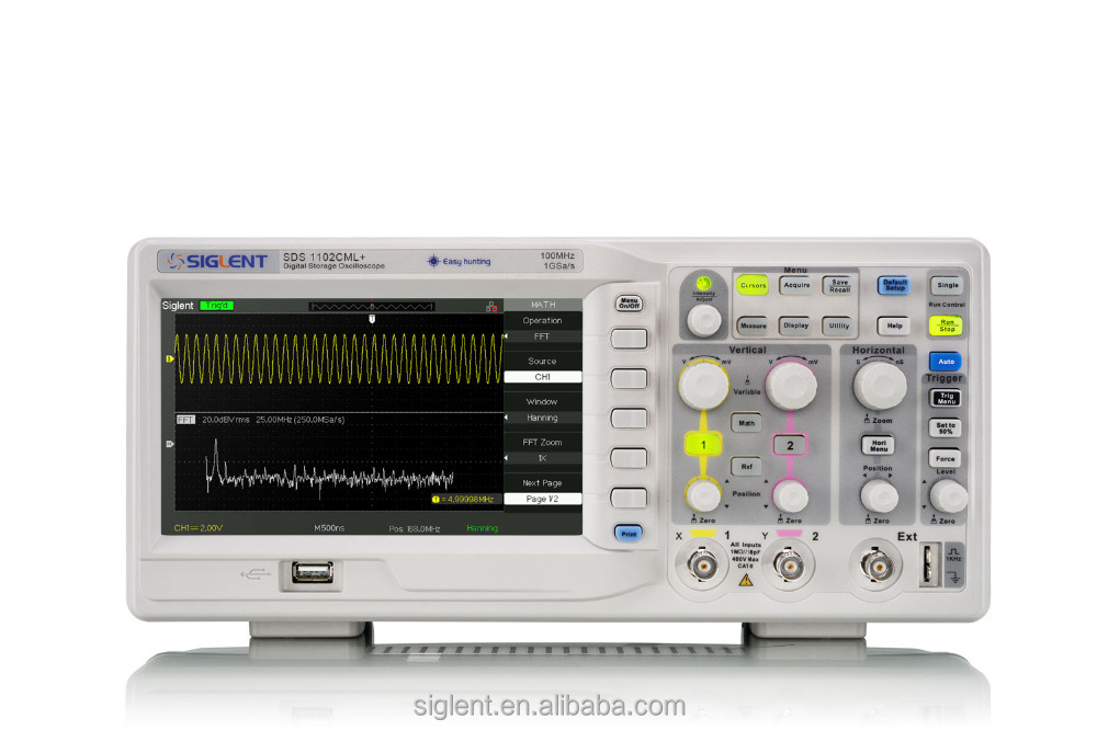 Siglent SDS1102CML+, 100 MHz digital oscilloscope,