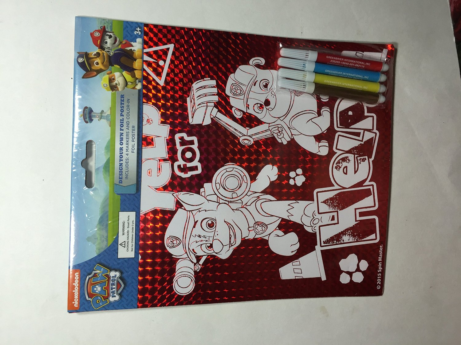 Paw Patrol~ Design you own foil Poster~Nickelodeon~