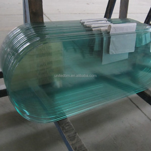 Race track oval tempered glass table top for coffee table and dining table wholesale