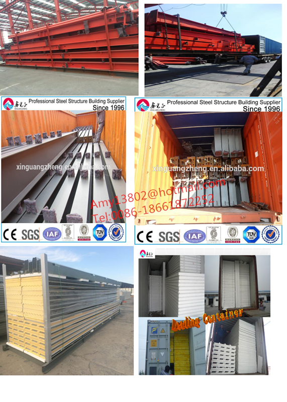 Prefab Light Steel Structure factory Plant / workshop/ prefabricated warehouse