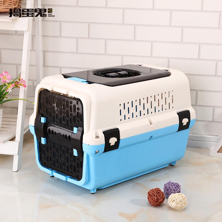 Caja de transporte de plástico aprobada por la aerolínea, de alta calidad, accesorios para mascotas, caja de viaje para perros