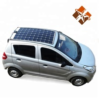 City use 4 wheel solar electric car with solar panel