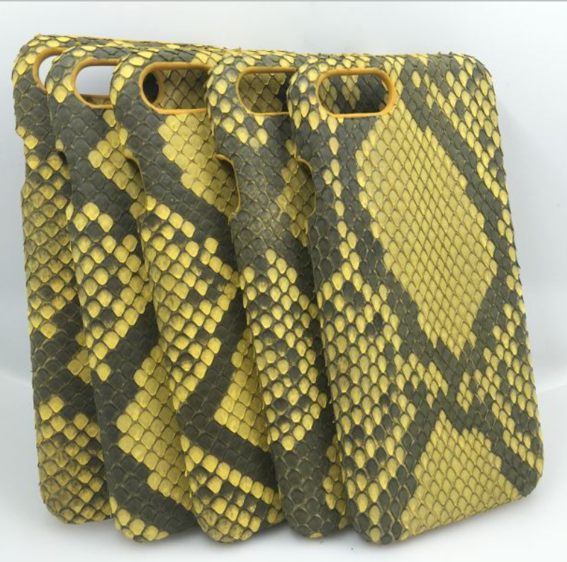 Luxury Shockproof phone skin Python leather Case Cover for Phone 7 & 7 Plus Cell Phone Accessory