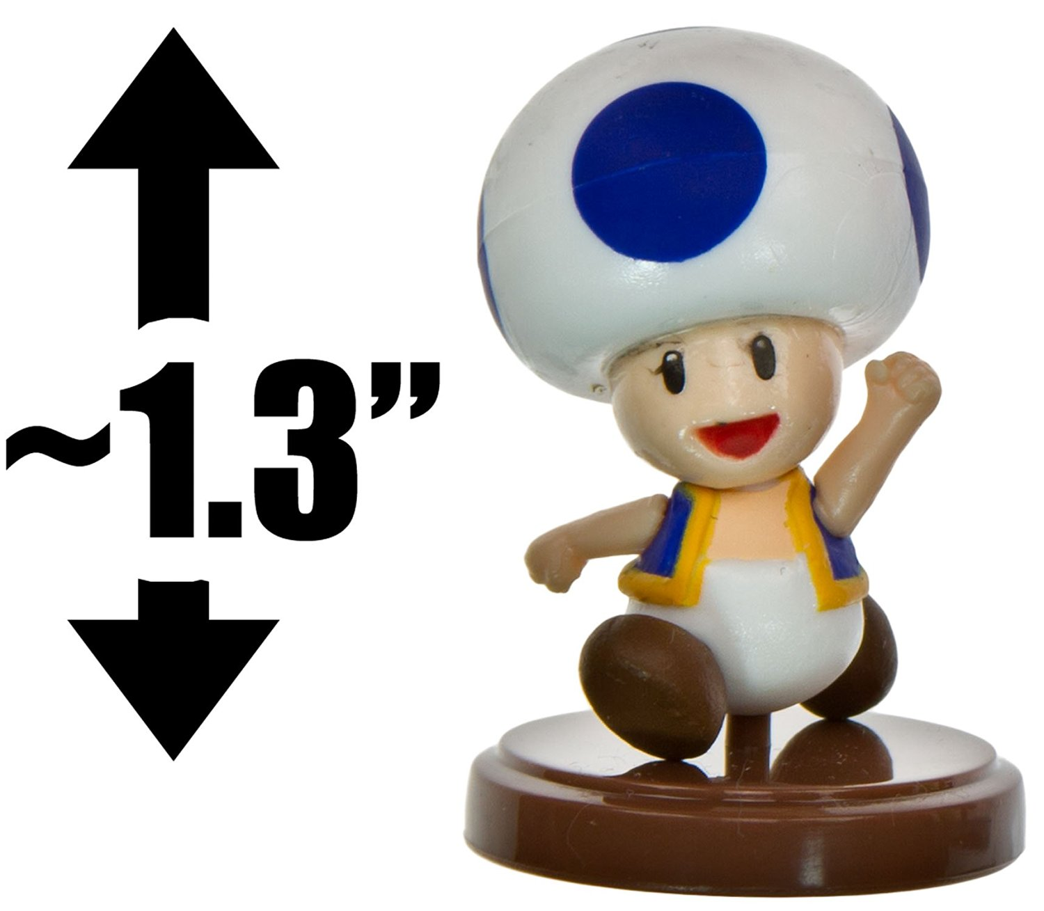 """Toad [Blue] ~1.3"""" Mini Figure [New Super Mario Bros. Wii Choco Egg Series - NO CANDY] (Japanese Import)"""