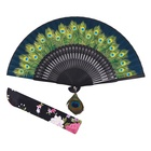 Chinese handicraft silk bamboo hand fan for promotion
